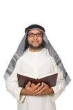 Konzept mit dem arabischen Mann lokalisiert Lizenzfreies Stockbild