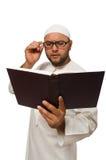 Konzept mit dem arabischen Mann lokalisiert Stockbild
