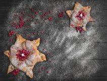 Konzept mit Schnee für Weihnachtskarten Lizenzfreies Stockbild