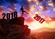 Konzept-neues Jahr 2018 Stockfotografie