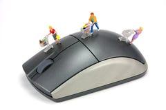 Konzept: Onlineeinkaufen Stockfoto
