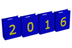 Konzept: Pakete des Jahres 2016 Stockbilder