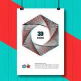 Konzept-Plakatbroschüre des Kinos 3D kreative Lizenzfreie Abbildung