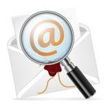Konzept - Recherche-eMail stock abbildung