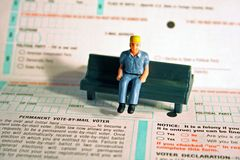 Konzept: Register zur Abstimmung! Lizenzfreie Stockbilder