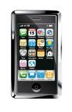 Konzept-Screen-Telefon-Auslegung lizenzfreie abbildung
