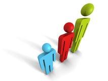 Konzept-Team Group Of Business People-Ikonen teamwork Stockfoto