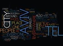 Konzept Telefons Aviv Text Background Word Cloud stock abbildung
