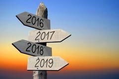 Konzept 2016, 2017, 2018 und 2019 Stockbilder