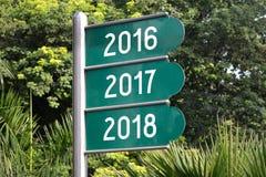 Konzept 2016, 2017 und 2018 Lizenzfreies Stockfoto