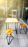 Konzept- und Designfront der Kaffeestube stockbild