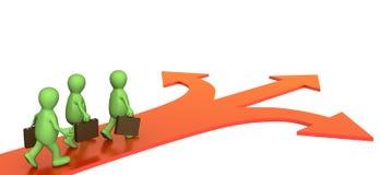 Konzept - unterschiedliche Richtung in Geschäft Stockfoto