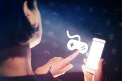 Konzept von beweglichen Spielen, Unterhaltung lizenzfreies stockbild