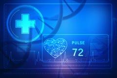 Konzept von Biochemie mit DNA-Molekül im medizinischen abstrakten Hintergrund Wiedergabe 3d Lizenzfreie Stockbilder