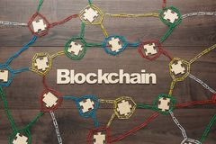 Konzept von Blockchain Stockbild