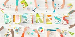 Konzept von Coworking Stockfoto