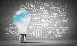 Konzept von effektiven Geschäftsinnovationen stockfotos
