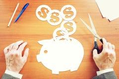 Konzept von Einsparungen das Geld Stockfotos