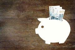 Konzept von Einsparungen das Geld in den russischen Rubeln Lizenzfreie Stockfotografie