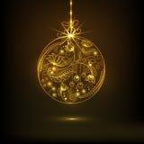 Konzept von Feiern der frohen Weihnachten und des guten Rutsch ins Neue Jahr stock abbildung