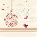 Konzept von Feiern der frohen Weihnachten und des guten Rutsch ins Neue Jahr Lizenzfreie Stockbilder