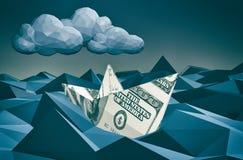 Konzept von Finanzcrisi stock abbildung