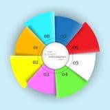 Konzept von Geschäft infographics mit Kreisdiagramm Stockfoto