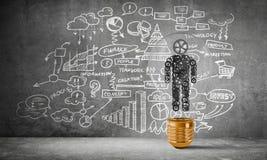 Konzept von Geschäftsinnovationen für Menschheit Lizenzfreie Stockbilder
