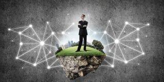 Konzept von modernen drahtlosen Technologien als effektivem Werkzeug für BU Lizenzfreies Stockbild
