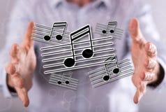 Konzept von Musik Lizenzfreies Stockfoto