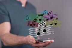 Konzept von Musik Lizenzfreies Stockbild