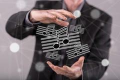 Konzept von Musik Stockbild