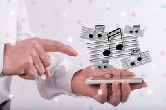 Konzept von Musik Lizenzfreie Stockfotografie