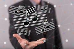 Konzept von Musik Lizenzfreie Stockbilder