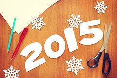 Konzept von Neujahrsfeiertag 2015 Lizenzfreie Stockfotografie