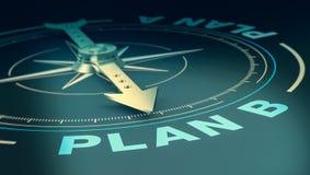 Konzept von Plan B lizenzfreie abbildung