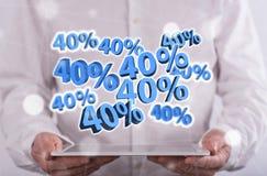 Konzept von 40% Rabatt Lizenzfreie Stockfotos