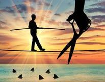 Konzept von Risiken und von Gefahren im Geschäft Stockbilder