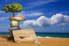 Konzept von Ruhe und von Leistung von Ökologie Lizenzfreie Stockbilder
