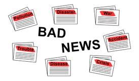 Konzept von schlechten Nachrichten vektor abbildung
