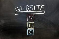 Konzept von SEO Lizenzfreies Stockfoto