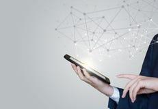 Konzept von Technologien für Verbindungsbenutzer stockfotos