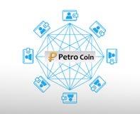 Konzept von Venezuelas Petro Coin lizenzfreie abbildung