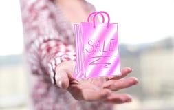 Konzept von Verkäufen und von Rabatten Stockbild