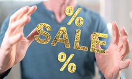 Konzept von Verkäufen und von Rabatten Stockfotografie