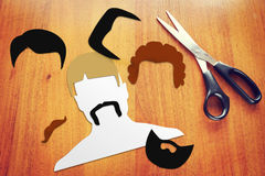 Konzept von verschiedenen Haarschnitten Stockfotografie