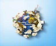 Konzept von Verschmutzungsumwelt Stockfotos