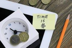 Konzept von Zeit ist Geld Stockbilder