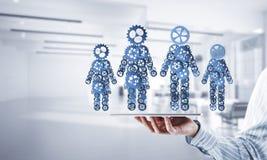 Konzept von Zusammenarbeit oder möglicherweise Familie mit zwei Zahlen presenti Lizenzfreies Stockfoto