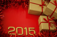 Konzept-Zahl von Jahr 2015 Lizenzfreies Stockfoto